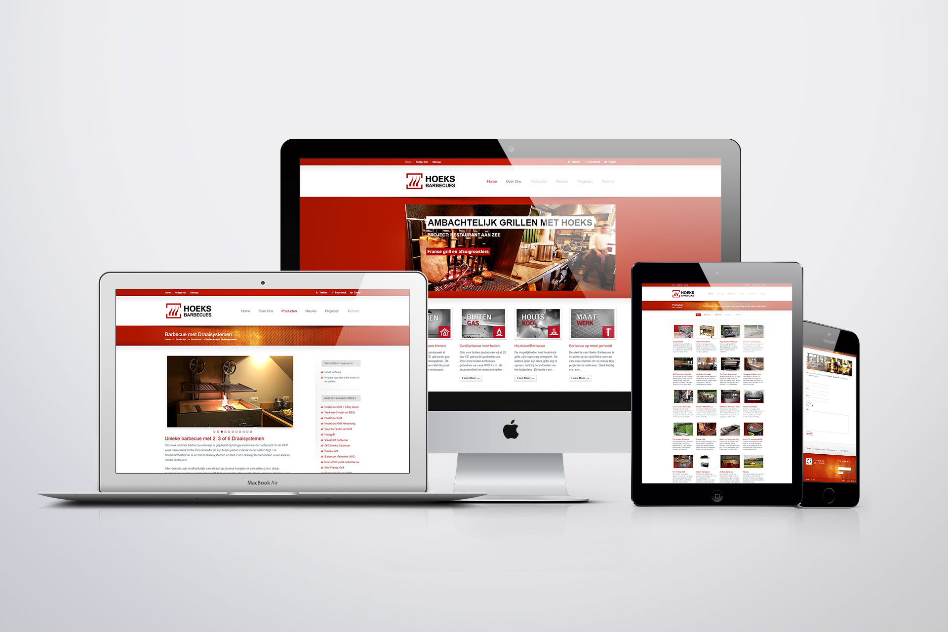 Website voor Hoeks Barbecues
